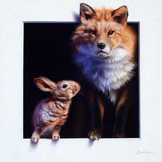 Marina Dieul Image Chat, La Art, Rabbit Art, Realistic Drawings, Illustrations, Wildlife Art, Animal Paintings, Pet Portraits, Art Pictures