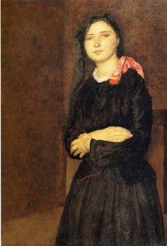 Dorelia in a Black Dres - Gwen John. Artist: Gwen John. Start Date: c.1903 (1590×2348)