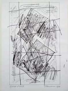 """Currently at the Catawiki auctions: Jan Schoonhoven, Composition - screen print - from the portfolio """"Formation"""" - 1987 - signed - EA"""