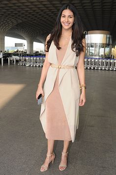 Amyra Dastur wore neutrals to the airport  Week+In+Style