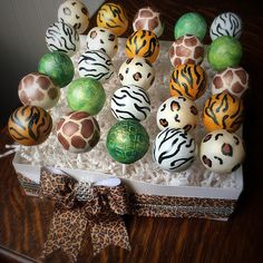 Animal Print Cake Pops
