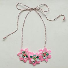 Beautiful Neon Pink Necklace by Emma Cassi!!  > new summer kids necklace