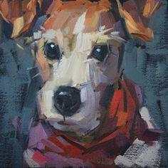 """Daily Paintworks - """"Katie"""" - Original Fine Art for Sale - © Cathleen Rehfeld Guache, Dog Portraits, Animal Paintings, Dog Art, Painting Inspiration, Pet Birds, Painting & Drawing, Art Drawings, Art Projects"""