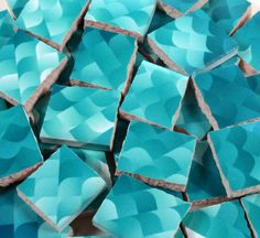 Ceramic Mosaic Tiles  Shades Of Blue Water by WhereGypsiesRoam