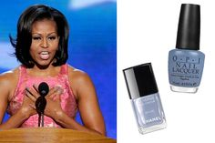 All the fashion buzz... Michelle Obama's blue/grey medium length nails... this will be a big fall color now