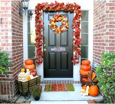 Delicieux 139 Best Decorating Doors For The Fall Holidays Images On Pinterest | Fall  Home Decor, Fall Halloween And Halloween Crafts