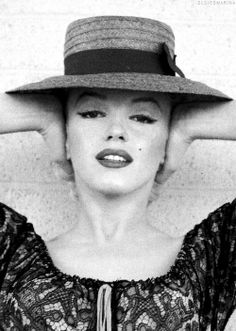 """Marilyn Monroe on the set of """"Bus Stop"""", photographed by Milton Greene, 1956."""