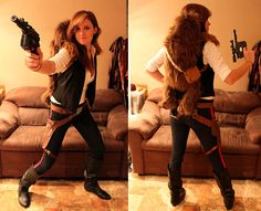 Female Han Solo. Other cool gender swapped cosplays at this link.