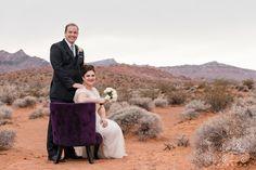 Valley of Fire Wedding Portrait in the red sands. #DesertWedding #ValleyofFireWedding