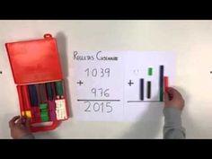Aprendemos a sumar llevando con Regletas Cuisenaire - YouTube