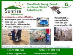 Carretillos con Batea Plástica para Trabajo Pesado - Sunrise Costa Rica