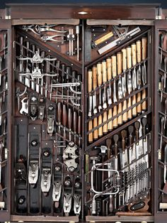 The Studley Tool Chest is the most famous example of 19th-Century tool storage currently known. But it's obviously not the only tool-holding masterpiece ever built; it's just dumb luck that the man who inherited it happened to loan it to the Smithsonian in the 1980s, enabling the world to learn