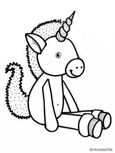Eenhoorn unicorns kleurplaten