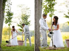 another of my sister-in-love's awesome wedding ideas: planting a tree instead of a [icky & overdone] unity candle