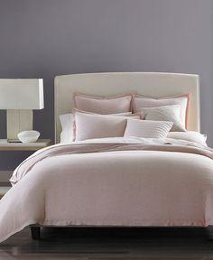 hotel collection rosequartz solid linen full queen duvet comforter cover