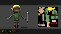 Video game character inspired by Zelda