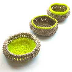 = neon crochet pots by My Very Own Eye Goggles = Etsy