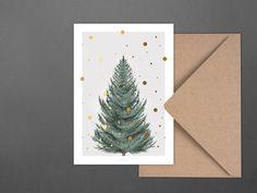 Weihnachtskarten - Weihnachtskarte / Tanne - ein Designerstück von typealive bei…