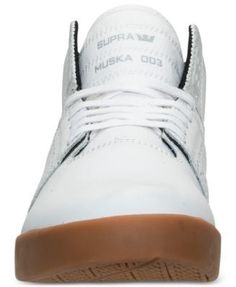 Supra Men's Skytop Ii High-Top Casual Sneakers from Finish Line - WHITE/GUM 9