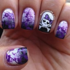 Girly Skull Nails