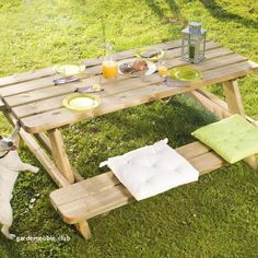 how to build a picnic table lovely table de picnic awesome table de picnic bois table banc banc de of how to build a picnic table Plastic Picnic Tables, Wooden Picnic Tables, Outdoor Picnic Tables, Patio Table, Diy Table, Octagon Picnic Table Plans, Build A Picnic Table, Folding Picnic Table, Wood Patio Furniture
