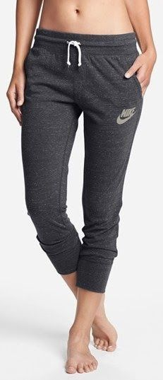 Nike & Vintage& Capri Pants available at .I mean, I AM from South Philly, so. Comfy Casual, Casual Pants, Cuffed Pants, Jeans, Nordstrom, Girly, Grey Nikes, School Fashion, Stylish Girl