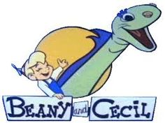 The Beany and Cecil Show was a 1962 animated cartoon series created by Bob Clampett, based on a hand puppet TV show in the late 40's by Clampett. After 1962, the 26 shows (including 78 cartoons) were repeated on Saturday mornings for the next five years. The cartoon featured Beany and Cecil embarking on a series of adventures, often to discover ancient civilizations and artifacts. These escapades were rife with cartoon slapstick and puns.