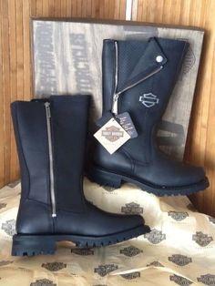 Nwob Harley Davidson Ladies Edie D87015 Black Riding Boot SZ 6.5 RET $170 SAVE$$
