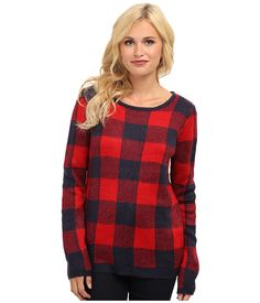 Brigitte Bailey Brigitte Bailey  Aspen Plaid Top Red Combo Womens Sweater for 27.99 at Im in!
