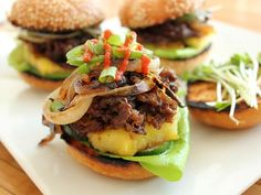 Beef Recipes :Melt In Your Mouth, Grilled Teriyaki Wagyu Beef Sliders Recipe