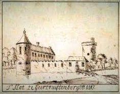 Tekening van Slot Geertruidenberg anno 1417