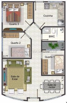 Bungalow Floor Plans, Duplex House Plans, House Floor Plans, House Layout Plans, Small House Plans, House Layouts, Drawing House Plans, Architectural House Plans, Kitchens And Bedrooms