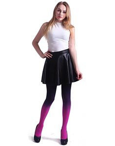 Amazon.com: HDE Women's Solid Gradient Color Stockings Opaque Microfiber Footed Tights (Purple to Pink): Clothing