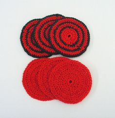 Drink Coasters Dark Green and Bright Red Christmas Decor Handmade Pack of 6 Ready to Ship Christmas Colour Schemes, Christmas Colors, Red Christmas, Christmas Decorations, Christmas Drinks, Great Christmas Gifts, All Things Christmas, Drink Coasters, Color Schemes