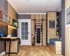 Boys Room Decor, Boy Room, Minecraft Room, Teenage Room, Bedroom Furniture Design, Stylish Bedroom, Interior Decorating, Interior Design, Room Interior
