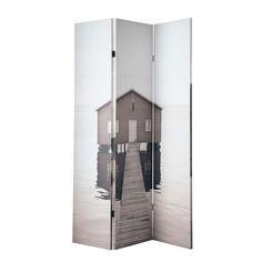 Paravent SEA SIDE bedruckt aus Holz, B 120 cm