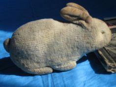 Antique Tiny Wool Plush Bunny, Likely Steiff Crib Toy