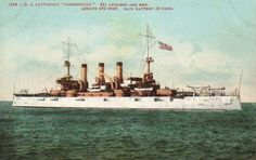 USS Connecticut (BB-18). Ordered: 1 July 1902. Builder: New York Naval Shipyard Laid down: 10 March 1903. Launched: 29 September 1904. Commissioned:  6 September 1906. Decommissioned: 1 March 1923. Struck: 10 November 1923. Fate: sold for scrap, November 1, 1923. Class & type: Connecticut-class battleship. Displacement: 16,000 tons.