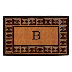Home & More Olympus Handwoven Monogram Indoor/Outdoor Doormat - 180092436B