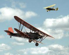 Vintage 1929 Biplanes - Dreamy Nursery Kids Room Decor Children Boys Flying Flight Airplane Air Plane Ride- 8x10 Original Photograph