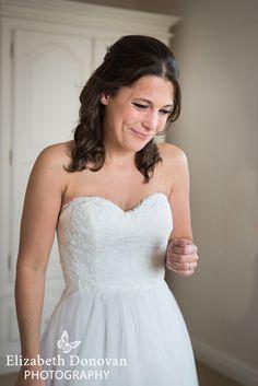 bride emotional before ceremony