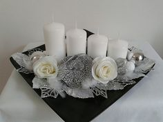 Metabes - Home, Craft and Diy Silver Christmas Decorations, Ramadan Decorations, Christmas Fireplace, Christmas Candle, Flower Decorations, Christmas Wreaths, Christmas Crafts, Christmas Ornaments, Flower Birthday Cards