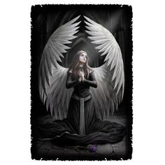 Anne Stokes/Prayer For The Fallen Graphic Woven Throw