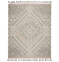 Evoking a colorful vibe reminiscent of antique Moroccan designs, our Trillium Rug is crafted in Kilim style of a plush wool and cotton blend.  * Hand woven kilim rug * Use of rug pad recommended * Place in dry, well ventilated area * Imported