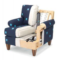 Building Furniture, Modular Furniture, Sofa Chair, Armchair, Sofa Design, Furniture Design, Sofa Frame, Banquette, Furniture Upholstery