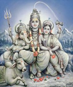 Ganesha with his parents