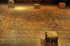 The ancient synagogue of Beit alpha, dated to the Byzantine period, was a 20m x 14M building. It was covered across its entire floor by a magnificent colorful mosaic floor. The mosaic floor, which was very well preserved, includes a Zodiac, Jewish ritual objects and the ark, two inscriptions in Greek and Aramaic, geometric patterns and icons of animals, birds, plants and fruits, and a scene from the Biblical story of the binding of Isaac.