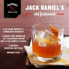 Jack Daniel's®Old-Fashioned♦️Tennessee Whiskey