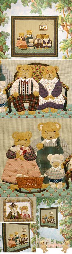퀼트미 [곰돌이가족 벽걸이(패턴) bear quilt ]