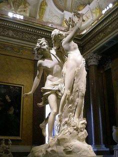 A história de Apollo e Daphne de Gian-Lorenzo Bernini em http://www.arteeblog.com/2015/06/a-historia-de-apollo-e-daphne-de-gian.html